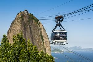 Famous Cable Car Leading Up to the Sugarloaf in Rio De Janeiro, Brazil, South America by Michael Runkel