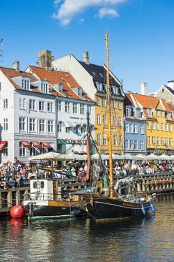 Fishing Boats in Nyhavn, 17th Century Waterfront, Copernhagen, Denmark, Scandinavia, Europe by Michael Runkel