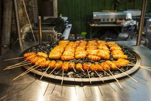 Fresh Cooked Food at the Shilin Night Market, Taipei, Taiwan, Asia by Michael Runkel