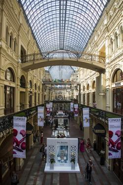 Gallery in Gum, the Largest Department Store in Moscow, Russia, Europe by Michael Runkel