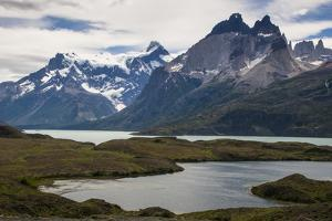 Glacial Lakes before the Torres Del Paine National Park, Patagonia, Chile, South America by Michael Runkel