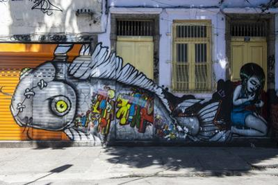 Graffiti Art Work on Houses in Lapa, Rio De Janeiro, Brazil, South America by Michael Runkel