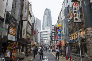 High rise bulidings in Shinjuku, Tokyo, Japan, Asia by Michael Runkel