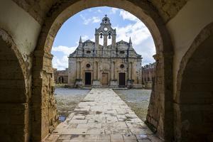 Historical Arkadi Monastery, Crete, Greek Islands, Greece by Michael Runkel