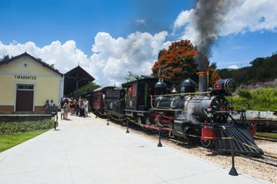 Historical Steam Train Maria Fuma §A in Tiradentes, Minas Gerais, Brazil, South America