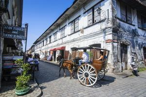 Horse Cart Riding Through the Spanish Colonial Architecture in Vigan, Northern Luzon, Philippines by Michael Runkel