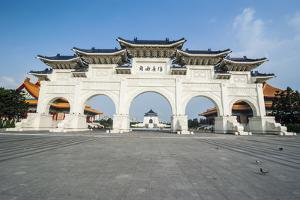 Huge Gate in Front of the Chiang Kai-Shek Memorial Hall, Taipei, Taiwan, Asia by Michael Runkel