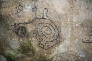 La Piedra Pintada petroglyphs, El Valle de Anton, Panama, Central America by Michael Runkel