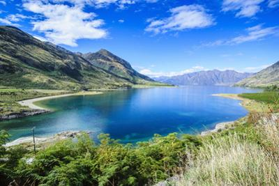 Lake Hawea, Haast Pass, South Island, New Zealand, Pacific by Michael Runkel