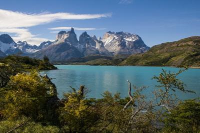 Lake Pehoe in the Torres Del Paine National Park, Patagonia, Chile, South America by Michael Runkel