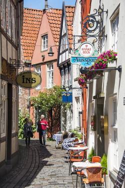 Little Alleys in the Old Schnoor Quarter, Bremen, Germany, Europe by Michael Runkel