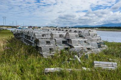 Lobster Fishing Traps in Port Au Choix, Newfoundland, Canada, North America