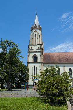 Lutheran Church in the German Town of Blumenau, Brazil, South America by Michael Runkel