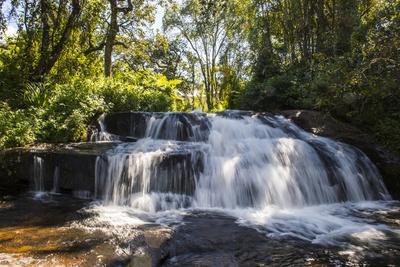 Mandala Falls Flowing in the Artificial Lake on the Mulunguzi Dam, Zomba Plateau, Malawi, Africa