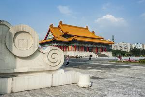 National Concert Hall on the Grounds of the Chiang Kai-Shek Memorial Hall, Taipeh, Taiwan, Asia by Michael Runkel