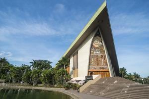 National Parliament, Port Moresby, Papua New Guinea, Pacific by Michael Runkel