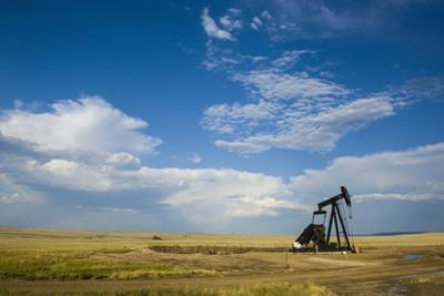 Oil Rig in the Savannah of Wyoming, United States of America, North America by Michael Runkel