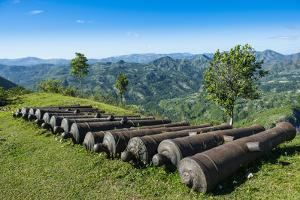 Old cannons in front of the Citadelle Laferriere, UNESCO World Heritage Site, Cap Haitien, Haiti by Michael Runkel