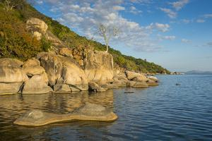Otter Point at Sunset, Cape Maclear, Lake Malawi National Park, Malawi, Africa by Michael Runkel