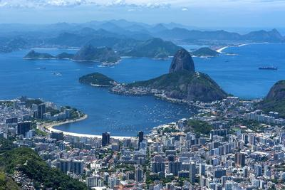 Outlook from the Christo Statue over Rio De Janeiro and the Famous Sugar Loaf