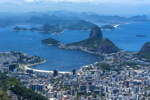 Outlook from the Christo Statue over Rio De Janeiro and the Famous Sugar Loaf by Michael Runkel