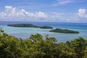 Outlook over the Island of Babeldaob and Some Little Islets, Palau, Central Pacific by Michael Runkel