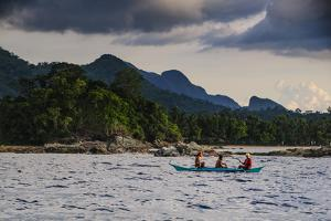 Outrigger Cruising on the Waters Near the Puerto Princesa Underground River, Palawan, Philippines by Michael Runkel