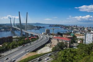 Overlook over Vladivostok and the New Zolotoy Bridge from Eagle's Nest Mount by Michael Runkel