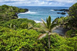 Pailoa Beach at the Waianapanapa State Park Along the Road to Hana by Michael Runkel