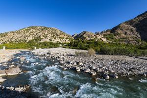 Panjshir River flowing through the Panjshir Valley, Afghanistan by Michael Runkel