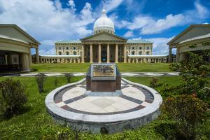 Parliament Building of Palau on the Island of Babeldoab, Palau, Central Pacific, Pacific by Michael Runkel