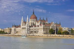 Parliament on the Banks of the River Danube, Budapest, Hungary, Europe by Michael Runkel