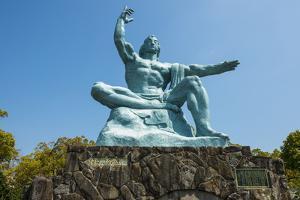 Peace Statue in the Peace Park, Nagasaki, Kyushu, Japan, Asia by Michael Runkel