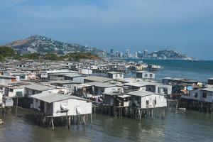 Poreporena stilt village, Port Moresby, Papua New Guinea, Pacific by Michael Runkel