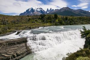 Rio Paine Waterfalls in the Torres Del Paine National Park, Patagonia, Chile, South America by Michael Runkel