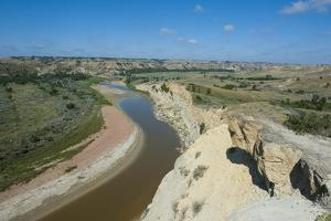 River Bend in the Roosevelt National Park, North Dakota, United States of America, North America by Michael Runkel