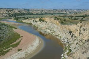 River Bend in the Roosevelt National Park, North Dakota, Usa by Michael Runkel