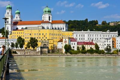 River Danube, Passau, Bavaria, Germany, Europe by Michael Runkel