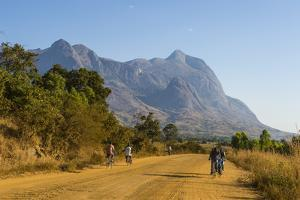Road Leading to the Granite Peaks of Mount Mulanje, Malawi, Africa by Michael Runkel