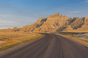 Road Through the Badlands National Park, South Dakota, United States of America, North America by Michael Runkel