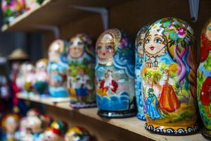 Russian Dolls for Sale as Souvenirs in Kiev (Kyiv), Ukraine, Europe by Michael Runkel