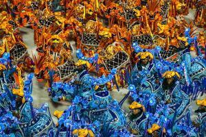 Samba Parade at the Carnival in Rio De Janeiro, Brazil, South America by Michael Runkel