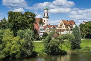 Stadtamhof, Old Quarter in Regensburg, Bavaria, Germany by Michael Runkel