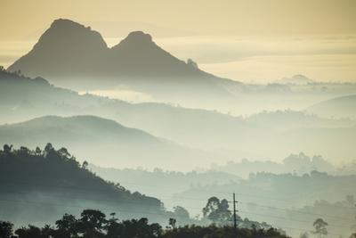 Sunrise and Fog over the Mountains Surrounding Blantyre, Malawi, Africa by Michael Runkel