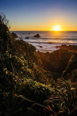 Sunset at Cape Foulwind Near Westport, West Coast, South Island, New Zealand, Pacific by Michael Runkel