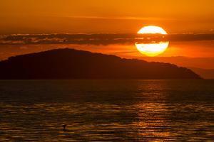 Sunset at Cape Maclear, Lake Malawi, Malawi, Africa by Michael Runkel