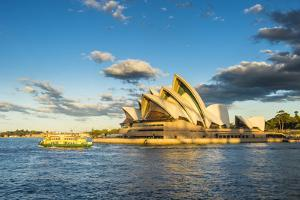 Sydney Opera House at sunset, UNESCO World Heritage Site, Sydney, New South Wales, Australia, Pacif by Michael Runkel