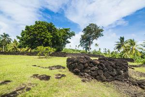 Talietumu or Kolo Nui ruins, former fortress, Wallis, Wallis and Futuna, South Pacific, Pacific by Michael Runkel