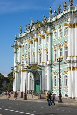 The Hermitage (Winter Palace), UNESCO World Heritage Site, St. Petersburg, Russia, Europe by Michael Runkel