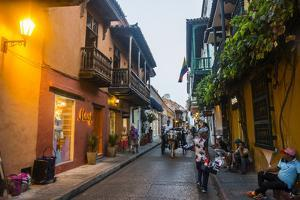 The old town after sunset, UNESCO World Heritage Site, Cartagena, Colombia, South America by Michael Runkel